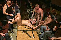 Dominik Rider, Tristan Jaxx in Bound In Public: The Nob Hill Theater Slut by KinkMen