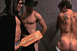 Dustin Steele, Ethan Parker, Mike West, Randy Blue, Reese Rideout, Xander Scott in That 70's Gay Porn Movie by Randy Blue