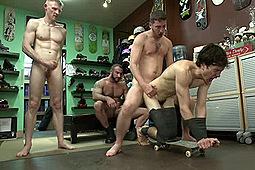 Kevin Case, Rob Yaeger, Spencer Reed in Skater Punk Gets What He Deserves by KinkMen