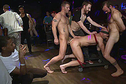 Jeremy Stevens, Mitch Vaughn in Muscle Stud Mitch Vaughn Tied Up And Used In A Public Bar by KinkMen