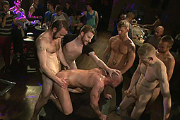 Jeremy Stevens, Mitch Vaughn, Rob Yaeger in Muscled Stud Has Had Enough But The Horny Crowd Says No by KinkMen