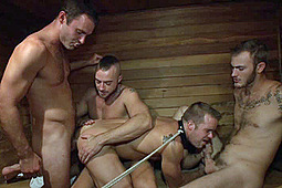 Christian Wilde, Connor Patricks, Jessie Colter in Bathhouse Whore Tormented And Gang Banged By A Horny Crowd by KinkMen