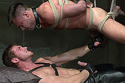 Connor Maguire, Mike De Marco in Huge Cock Boy Bound, Beaten And Fucked by KinkMen