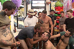 Jace Chambers, Presley Wright, Rich Kelly in The Balloon Shop Whore by KinkMen