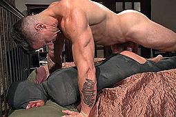Jordan Foster, Trenton Ducati in Muscled Pervert Turns His Captive Stud Into A Sex Slave by KinkMen