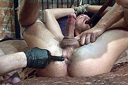 Jordan Foster, Trenton Ducati in Men On Edge: Two Edging Perverts Find A Captive Sex Slave By Accident by KinkMen