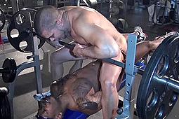 Chad Brock, Daemon Sadi, Danny Lopez, Kamrun, Kane Rider, Lex Antoine, Matt Sizemore, Santiago Rodriguez in Black Cock White Ass by Alpha 1 Men, USAJOCK
