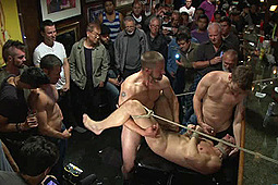 Bryan Cole in Naked Ripped Stud Gets Humiliated And Used In A Crowded Public Bar by KinkMen