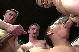 Jonathan Cardona, Leo Sweetwood, Santiago Figueroa, Trent Jackson in Teach My Hole A Lesson by Cock Virgins, Pride Studios