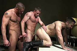 Dirk Caber, Hunter Marx, Shay Michaels in Sting by Titan Media