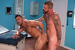 Bruno Bernal, Rocco Steele in Deep Examination by Falcon Studios Group, Hot House Entertainment