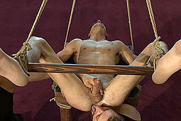 Johnny Torque in Men On Edge: Straight Hunk Johnny Torque's First Time Bound by KinkMen