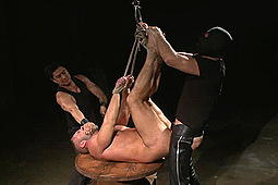 Dirk Caber in 30 Minutes Of Torment: Muscled Hunk Dirk Caber Relentlessly Tormented And His Ass Violated by KinkMen