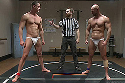 Ivan Gregory, Mitch Vaughn in Top Cock: Loser Takes A Hard Machine Fucking Up His Ass by KinkMen