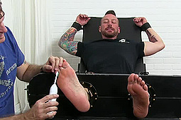 Hugh Hunter in Helpless Hairy And Tickled by My Friends Feet, PornPlays
