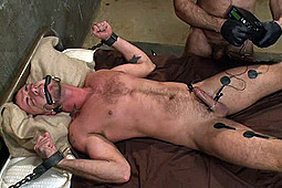 Jessie Colter, Spencer Reed in The Most Brutal Orgasm In Bound Gods History by KinkMen