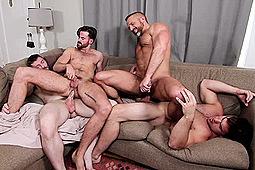 Brendan Patrick, Dennis (Sean Cody), Dirk Caber, Solomon Aspen in The In-Laws by Men
