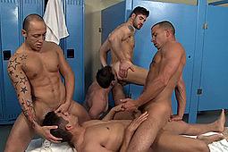 Chris Tyler, Dean Monroe, Dylan Roberts, Jordano Santoro, Spencer Williams in Jizz Orgy 2 by Men