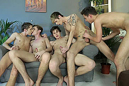 Connor Levi, Damian Dickey in Bukkake Frenzy 2 by Staxus