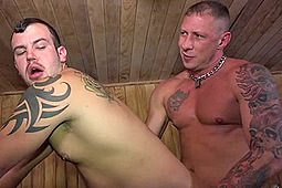 Chip Young, Tyler Griz in Gym Stalkers: Sauna Fuck by Alpha One Media, Big Daddy's Big Media