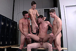 Andrew Stark, Hunter Page, Johnny Rapid, Mike De Marco, Riley Banks in Major League by Men