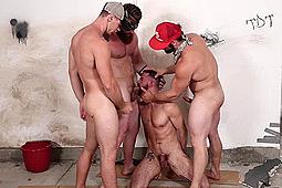 Brandon Evans, Jeff Powers, Tobias in Rednecks by Bromo