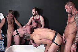 Aaron Burke, Chris Perry, Dolf Dietrich, Jacob Slader, Patrick O'Connor, Tony Bishop in Hole Pounders by Dick Wadd