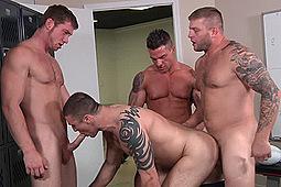 Brad Coyote, Colby Jansen, Connor Kline, Connor Maguire in Scrum by Men