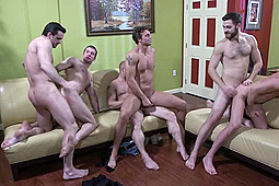 Jake Steel, John Magnum, Phenix Saint, Rocco Reed, Spencer Fox, Tommy Defendi in Rocco Reed: Straight Bottom Bitch by Men
