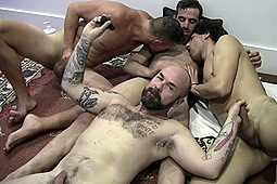 Jonny Chill, Leo Rocca, Randy Slaughter in Gang Bang Aussie Private 4way by Amateurs Do It
