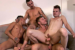 Danny Montero, Kamyk Walker, Kayden Gray, Lyle Boyce, Nathan Hope, Ross Drake in Twink Orgy by EuroMale - Eurocreme Group, Eurocreme Group