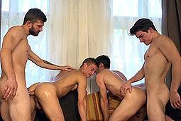 Adam Rezal, Dusan Polanek, Nikol Monak, Tomas Adamec in Wank Parties Plus From Prague 29 by William Higgins