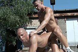 Christian Hezzog, Michael Shade in Junkyard Cumholes by Dark Alley Media, Raw Fuck Club