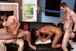 Jay Dubbs, Joey Harden, Landon Terry, Noah Brooks in Tasty Twinks Part 2: Orgy Scene by Next Door Studios